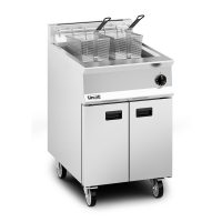 Lincat OG8107 Single Tank (Twin Basket) Gas Fryer, 600mm wide, 25L Oil Capacity