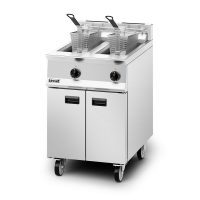 Lincat OG8111 Twin Tank Gas Fryer, 2 Baskets, 600mm, 2 x 14L Capacity