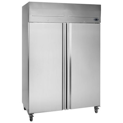 Tefcold RF1010P Double Door Upright Freezer Stainless Steel 976L
