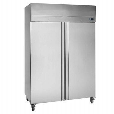 Tefcold RK1010P Double Door Upright Fridge Stainless Steel 976L