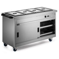Lincat P6B4 Hot Cupboard with Bains Marie Top