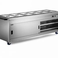 Lincat P8B6 Hot Cupboard with Bains Marie Top