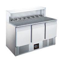 BLIZZARD BCC3PREPGRANITE 3 Door Compact Gastronorm Pizza Prep Counter 368L