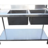 Stainless Steel 1500mm Double Bowl Sink with Left Hand Drainer
