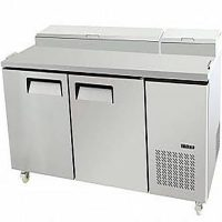ATOSA MPF8202 Double Door Food Prep Table Fridge with GN Pans, 523L