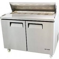 ATOSA MSF8303 Large Double Door Food Prep Table Fridge with GN Pans 487L