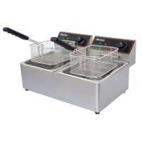 BLIZZARD 2 x 6Lt Twin Tank Electric Fryer BF6+6