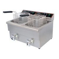 BLIZZARD BF8+8 Twin Tank Electric Fryer with Tap 2 x 8L