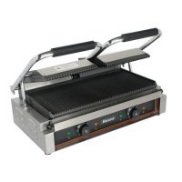 BLIZZARD BRRCG2 Double Contact Grill with Ribbed Top & Bottom Plates