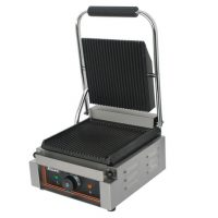 BLIZZARD Single Contact Grill (Top Ribbed, Bottom Ribbed) BRRCG1