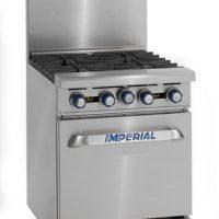 IMPERIAL 610mm (w) 4 Burner Gas Oven Range with Splashback & Shelf IR-4