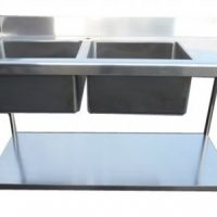 Stainless Steel 1500mm Double Bowl Sink with Right Hand Drainer