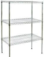 CRAVEN Firmashelf 4000 3 Tier Chrome Shelving Rack 1500mm x 1800mm