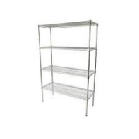 CRAVEN Firmashelf 4000 4 Tier Chrome Shelving Rack 1700mm x 1500mm