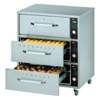 HATCO Freestanding Three Narrow Drawer Warmer HDW-3N