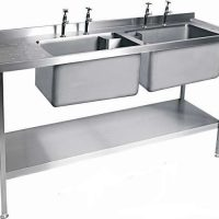 MOFFAT SSU15 Range Double Bowl Sink with Single Drainer