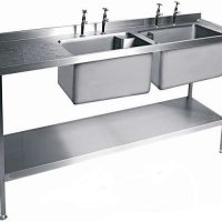 MOFFAT SSU18 Range Double Bowl Sink with Single Drainer