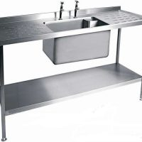 MOFFAT SSU18 Range Single Bowl Sink with Double Drainer