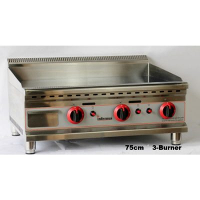 INFERNUS 750mm 3 Burner LPG Gas Griddle