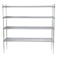 CRAVEN Firmashelf 5000 4 Tier Zinc Chromate Wire Shelving 1700mm x 800mm