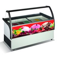 CRYSTAL Venus Elegante 56 Ice Cream Display 557L
