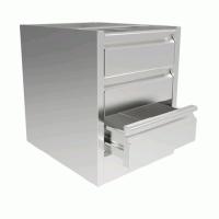 INOMAK 580mm(h) x 460mm(w) x 580mm(d) Three Drawer Unit ST300