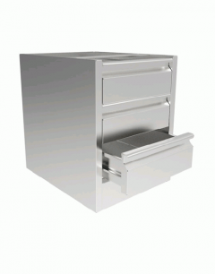 INOMAK ST300 Three Drawer Unit 580mm(h) x 460mm(w) x 580mm(d)