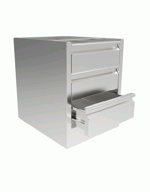 INOMAK 580mm(h) x 460mm(w) x 580mm(d) Three Drawer Unit ST300