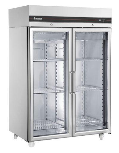 INOMAK Heavy Duty Double Glass Door Freezer CFP2144CR