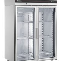 INOMAK CES2144CR Heavy Duty Double Glass Door Refrigerator 1432L