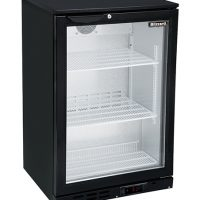 BLIZZARD LOWBAR1 Single Door Low Height Bar Bottle Cooler - Black