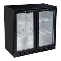 BLIZZARD LOWBAR2 Double Door Low Height Bar Bottle Cooler - Black