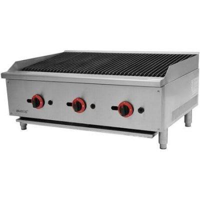 iMettos ECB-36SX Gas 3 Burner Countertop Charbroiler