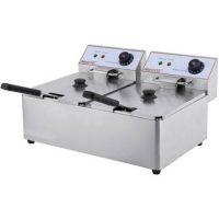 iMettos DF-6L-2 Countertop 2 x 6Ltr Twin Tank Electric Fryer