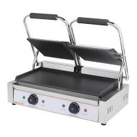 iMettos PG-2SC Contact Grill TwinRibbed Top & Smooth Bottom