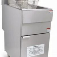 Infernus Natural Gas Single Tank, Twin Basket Fryer, 23 Litre Capacity
