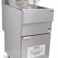 Infernus Natural Gas Single Tank, Twin Basket Fryer, 23 Litre Capacity