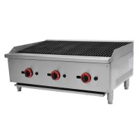 Infernus Gas 3 Burner Radiant Heat Charbroiler or Lava Rock Chargrill 900mm wide