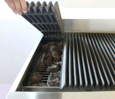 Infernus Gas 3 Burner Radiant Heat CharBroiler 900mm wide