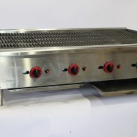 Infernus Gas 4 Burner Radiant Heat Charbroiler or Lava Rock Chargrill 1200mm wide