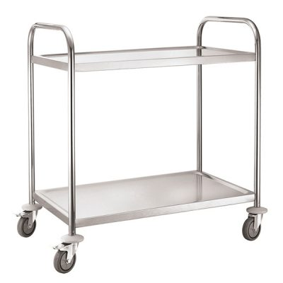 iMettos 2 Tier Service Trolley with Round Tube