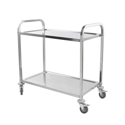 iMettos 2 Tier Service Trolley with Square Tube