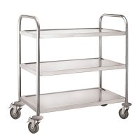 iMettos 3 Tier Service Trolley with Round Tube