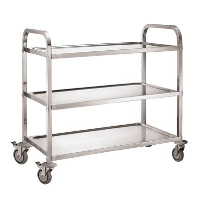 iMettos 3 Tier Service Trolley with Square Tube