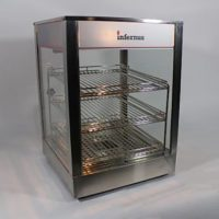 Infernus INFW-1P 3-level Heated Display Pie Warmer SQUARE