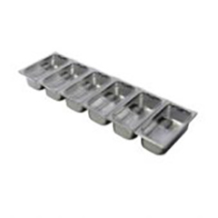 Lincat SGP1006/A Pack of 1/3 GN Containers with choice of Lids for FDB6 Food Display Bar