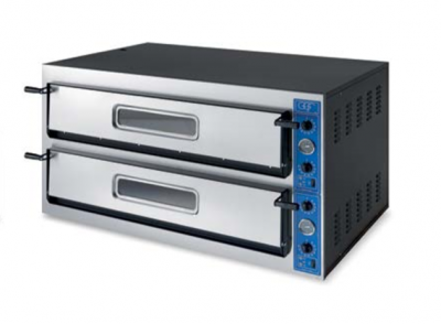 "GGF X 66/36L Italian Mid-Range Electric Twin Deck Pizza Oven - 12 x 14"" pizzas"