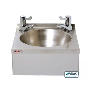 "Mechline Basix WS2L Stainless Steel Handwash Basin with 3"" Lever Taps"