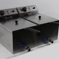 Infernus INEF-172V Countertop Twin Tank Twin Basket Electric Fryer