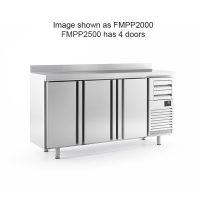 Infrico FMPP2500 4 Door Tall Back Bar Counter With Upstand 695L